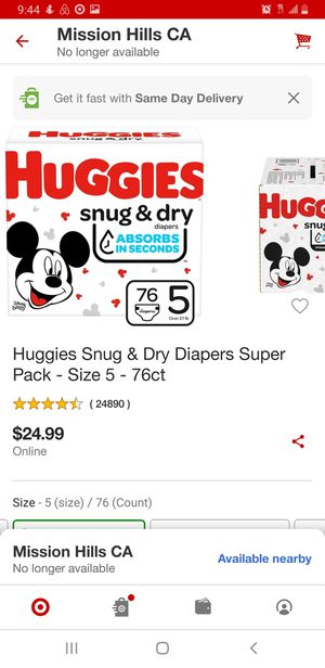 Huggies Snug & Dry Diapers Size 5 for Sale in Los Angeles, CA