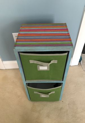 Hand painted colorful storage shelf for Sale in Great Falls, VA