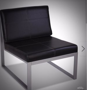 New!! Chair, contemporary chair set of 2, side chair, living room furniture, entrance furniture, entrance chair, bedroom furniture , black for Sale in Phoenix, AZ