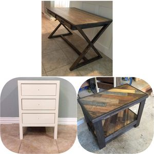 Handmade Wooden Furniture: Beds, Baby Beds, Entertainment Centers, Buffet Tables, Farmhouse Tables, Dog Bowl Stands, Wooden Cutting Boards for Sale in Fort Worth, TX