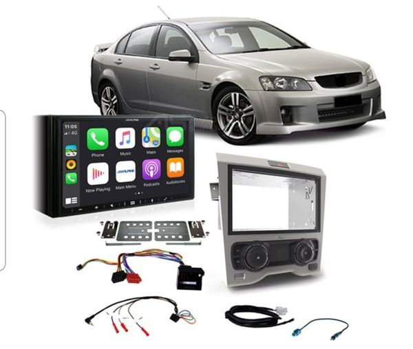 """Pioneer Double-DIN Receiver, 4x Kicker 6.5"""" Speakers, Installation Accessories + led light car audio Package dea"""