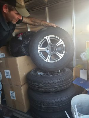 Brand new never used r15 trailer tires with rims for Sale in Las Vegas, NV