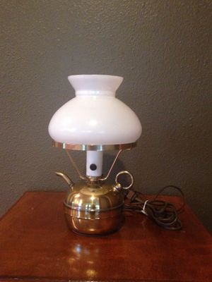 Copper Tea Pot Lamp for Sale in Leavenworth, WA