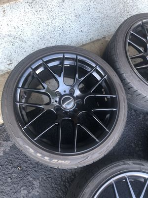 BMW Avant Garde 18' Wheels Matte with tires excellent for Sale in Falls Church, VA