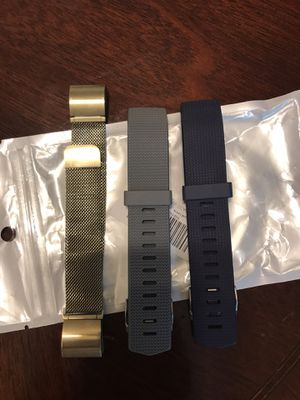 Fitbit charge 2 bands 2 news never use and gold used. for Sale in Redwood City, CA