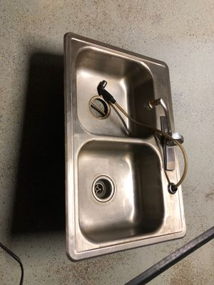 Kitchen sink, steel, double for Sale in Front Royal, VA