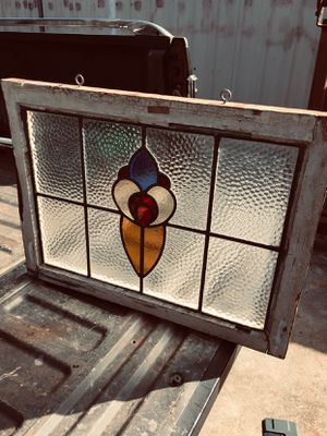 Vintage stain glass window for Sale in Houston, TX