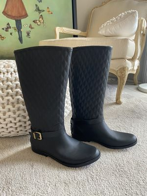 Guess Black Matte Rubber Rain Boots size 9 for Sale in Miami, FL