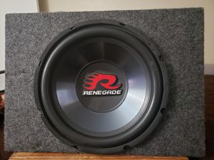 Renegade 12 inch subwoofer for Sale in Glendale, AZ