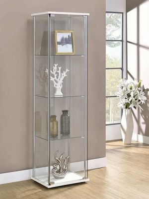 Beautiful White Display cabinet Detolf Curio Bookcase Bookshelves Pantry or Bath Storage Organizer + Shelves INCLUDED for Sale in Huntington Beach, CA