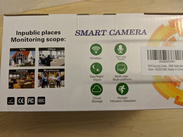 Security camera with 64gb sd card