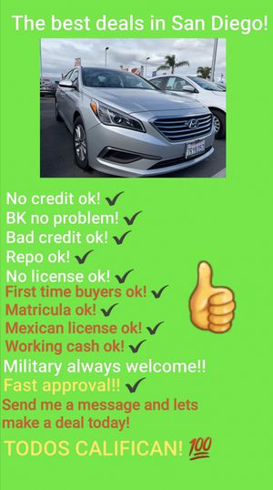2016 HYUNDAI SONATA! USE YOUR STIMULUS CHECK TO BUY IT! for Sale in San Diego , CA