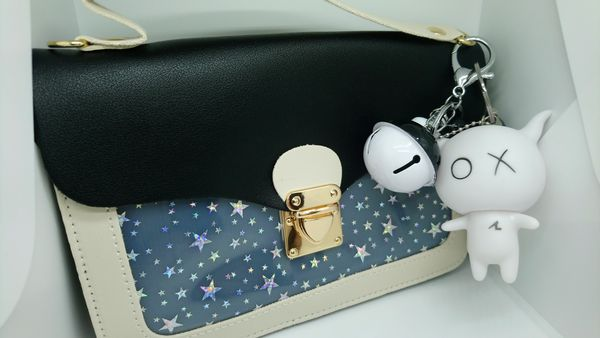 Chain Handbag with keychains