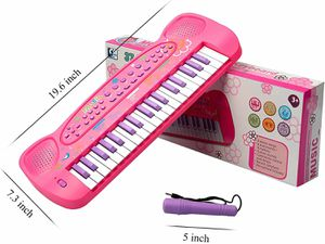 37 Keys Piano Keyboard for Kids Multifunction Portable Piano Electronic Keyboard Music Instrument Kids Toy for 3-10 Year Old Girls Boys (Pink) for Sale in Torrance, CA