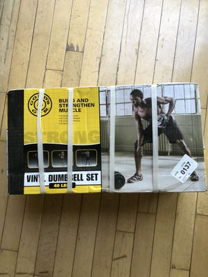 Gold's Gym Vinyl Weight Set 40 lbs total for Sale in Rockville, MD