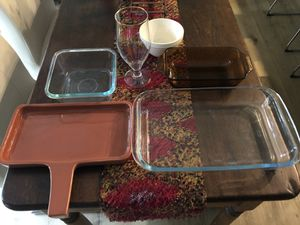 PYREX ASSORTMENT OF COOKING DISHES and OTHER for Sale in Huntington Beach, CA