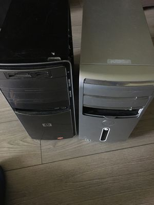 Two computers for parts. Power turns on- but no video displays. for Sale in Pompano Beach, FL