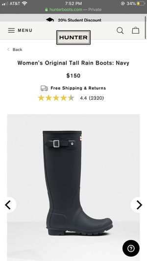 Brand new authentic size 9, Navy Hunter rain boots. for Sale in Delano, CA