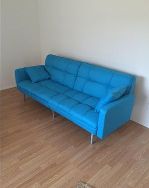 Blue Modern Futon Couch for Sale in Lebanon, MO