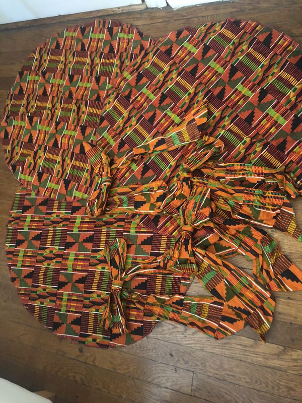 Unique Kente printed fabric items for event