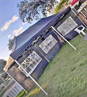 10'x20' Pop Up Canopy Tent with Side Walls in BLUE*WHITE*BLACK for Sale in Chino, CA