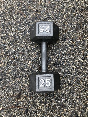 25lb single dumbbell for Sale in Downers Grove, IL