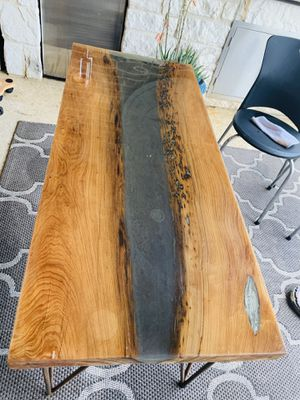 Wood and resin table for Sale in El Dorado, AR
