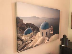 24x35in Canvas Artwork Greece for Sale in Rockville, MD