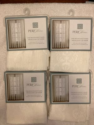 New 4 curtain panels color: ivory $10 each panel for Sale in St. Peters, MO