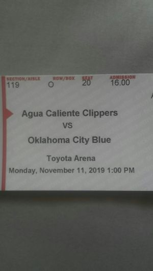 Agua caliente Clippers v.s oklahoma city blue tickets for Sale in ROWLAND HGHTS, CA