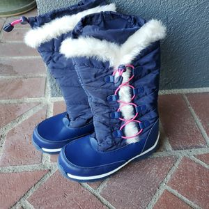New Girls Snow Boots Sz 2 (Lands End Navy And Pink) for Sale in Long Beach, CA