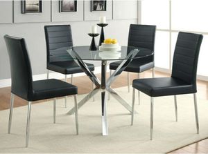 4 black leather dining chairs for Sale in Monroe, WA