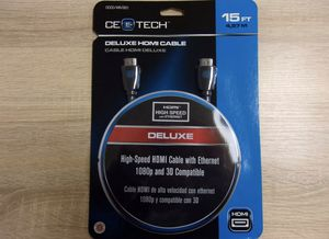 CE Tech 15ft. Deluxe HDMI Cable with Ethernet 0000-149-520 for Sale in St. Petersburg, FL