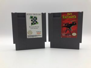 Nintendo NES | 2 games pipe dream and Wrath black manta for Sale in Los Angeles, CA
