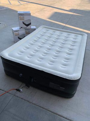 "NEW $50 each AirExpect air queen size mattress 660 lbs capacity inflate deflate under 5 minutes includes carrying bag 19"" tall inflatable bed with bu for Sale in Los Angeles, CA"