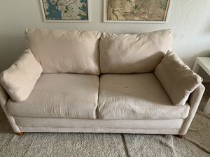 Creme Suede Pullout Sofa for Sale in San Francisco, CA