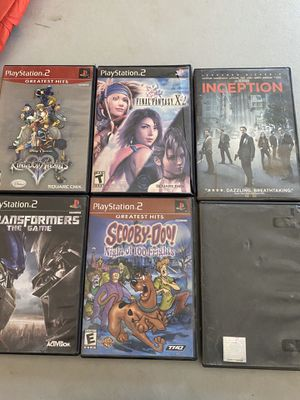 Ps2 games, Inception dvd, and Wwe Day of Reckoning for Sale in Riverside, CA