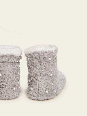Women faux fur pearl fashion ankle boots for Sale in Philadelphia, PA