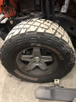 Rims wheels jeep 17 and tires for Sale in Boston, MA