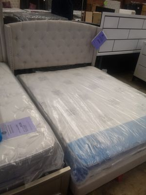 Queen Khaki Rosemary Bed Frame for Sale in Greensboro, NC