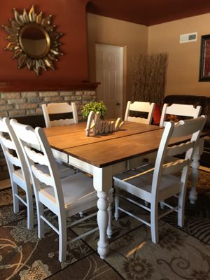 Cute kitchen or dining table / 6 sturdy chairs❤️ for Sale in Denver, CO