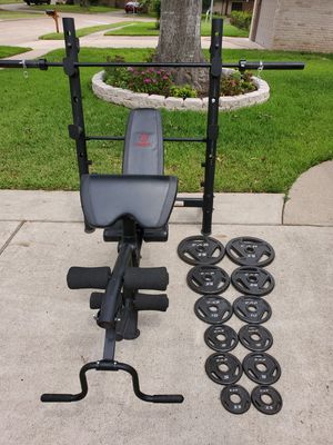 Weights,pesas,exercise,fitness,gym,workout,weight bench for Sale in Stafford, TX