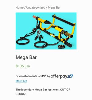 Mega Bar- weight training product for Sale in San Diego, CA