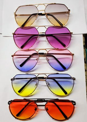 New 2020 Aviator Sunglasses Purple Pink Blue Gradient lens Oceanic metal frame for Sale in ROWLAND HGHTS, CA