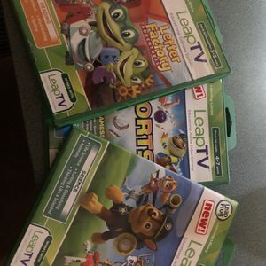 Leap Frog With 3 Games for Sale in Bloomington, IL