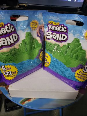 Kinetic sand Two 6 lb resealable bags with 3 different colors. In hand ready to ship any questions please ask. for Sale in Branford, CT