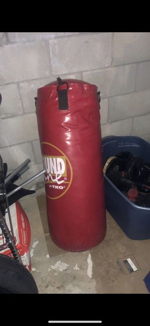 Punching bag and gloves. for Sale in Trenton, NJ