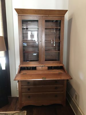 Late 1800 secretary antique! Beautiful pine. Lots of storage. Fits into any decor. Full of warmth, character and charm. Great addition to any styl for Sale in Maitland, FL