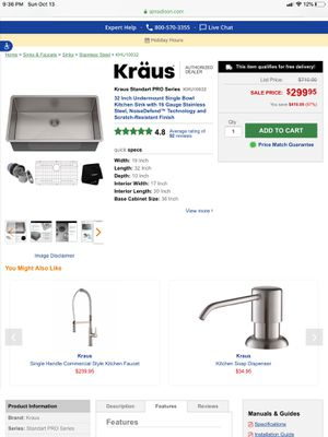 Kitchen faucet,sink,soap for Sale in Downers Grove, IL