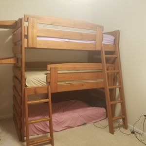 triple bunk bed (mattresses not included) for Sale in Bristow, VA